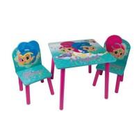 SHIMMER & SHINE Table et 2 chaises enfant en bois MDF