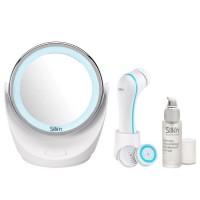 SILK'N GBOX004 Brosse de nettoyage du visage + Sérum + Miroir grossissant lumineux