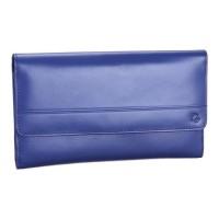SILVERCAT Compagnon - Cuir de vachette - 19x12 cm - Bleu - Femme