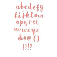 SIZZIX Matrice Thinlits Set 35 pieces Alphabet lettres miniscules effet pinceau par Debbi Potter