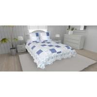 SOLEIL D'OCRE Couvre-lit boutis matelassé ARLES avec 2 taies d'oreiller - 220x240 cm