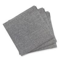 SOLEIL D'OCRE Lot 3 serviettes de table Jean's - 45x45 cm - Gris