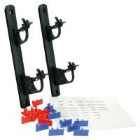 SOMATHERM Kit de 2 Supports de collecteurs universels - Matériau de synthese - Clips d'identification réseu