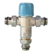 """SOMATHERM Limiteur Thermostatique Réglable NF de 35 a 50°C - Avec Clapets Anti-Retours 3/4"""" pour Chauffe Eau"""