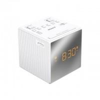 SONY - Radio réveil avec projection de l'heure-Tuner digital-Chargeur de téléphone-Batterie de secours-Blanc
