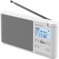 SONY - XDRS41DR.EU8 - Radio portable DAB/DAB+ - Préréglages directs - Réveil et mise en veille programmable - Blanc