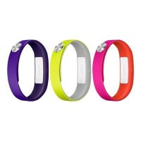 SONY Pack active 3 bracelets smartband - Violet / Jaune / Fushia - Taille large