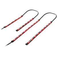 SPIRIT OF GAMER Kit de 4 barres a Leds - Fixation magnétique ultra aisée - Rouge
