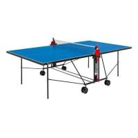 SPONETA Table Tennis de Table - Table Ping Pong Compacte - Usage extérieur - Bleu et noir