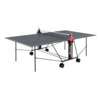 SPONETA Table Tennis de Table - Table Ping Pong Compacte - Usage Extérieur - Gris et noir