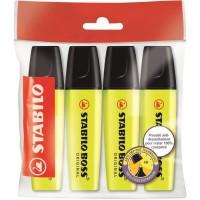 STABILO 4 surligneurs BOSS ORIGINAL jaune
