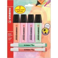 STABILO 6 surligneurs pastel : 4 BOSS ORIGINAL + 2 swing cool