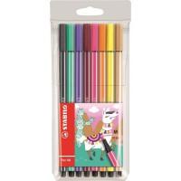 STABILO 8 feutres de dessin Pen 68 Living colors - Décor Lama