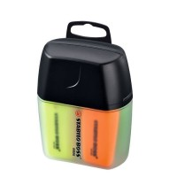 STABILO BOSS MINI - lot de 4 surligneurs - jaune + bleu + vert + orange