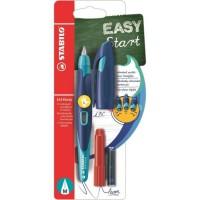 STABILO Stylo-plume EASYbirdy et 1 clé de réglage - Bleu et turquoise
