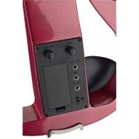 STAGG EVN X-4/4 MRD Pack violon électrique 4/4 rouge - Etui semi-rigide - Casque