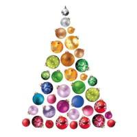 Sticker sapin de Noël Do It Yourself en PVC - 100 x 73 cm - Multicolore