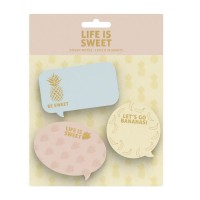 SWEET & GOLD Notes autocollantes - 3 pieces - 30 pages - Mix