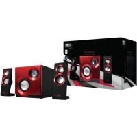 Sweex Systeme de haut-parleurs 2.1 Purephonic 60 Watts Rouge