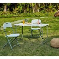 Table pliante - 120 cm - 4 personnes - Revetement en poudre en tubes d'acier, arrivée Ø 25 x 1 mm
