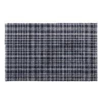 Tapis d?entrée FUSION DRY - Noir rayé gris clair - 40x60 cm - Support vinyl antidérapant