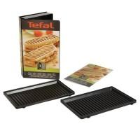 TEFAL Accessoires XA800312 Lot de 2 plaques grill panini Snack Collection