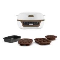 TEFAL KD802112 Cake Factory + Machine intelligente a gâteau Blanc / marron métallisé