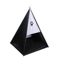 Tente tipi Dogi 37x37x52 cm - Noir - Pour chien