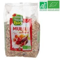 TERRES ET CÉRÉALES Muesli aux fruits BIO sans sucres 1 kg