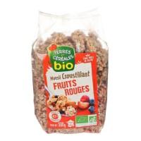 TERRES ET CEREALES Muesli croustillant aux fruits rougesbio - 500 g