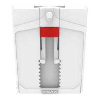 TESA Clou adhésif ajustable - Pour papier peint & plâtre - Charge supportée : 2 Kg