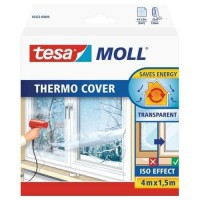 TESA Film de survitrage Thermo Cover - 4 m x 1.50 m - Transparent