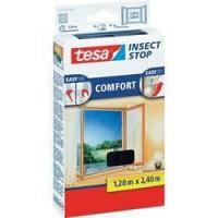 TESA Moustiquaire Comfort pour portes-fenetres - 1,20m x 2,4 m - Noir