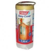TESA Rouleau de film protecteur + Easy Cover Premium M, (bâche + ruban de masquage) 33m x 550mm