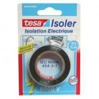 TESA Ruban Adhésif Isolation électrique - 10m x 15mm - Noir