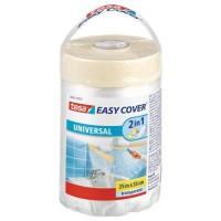TESA Ruban de masquage + Easy Cover Universel M, (bâche + ruban de masquage) 25m x 550mm
