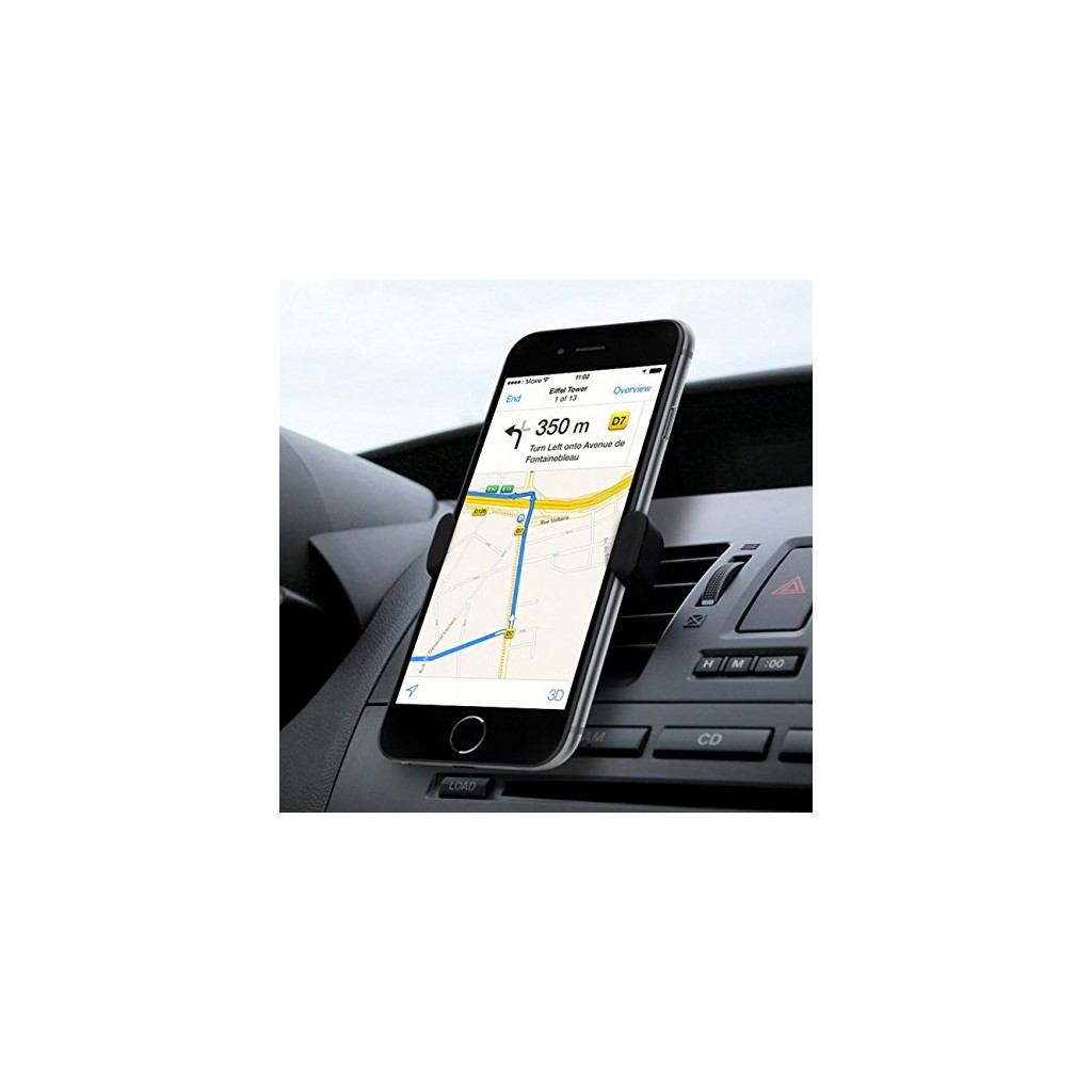 24002 clip universel support voiture grille ventilation auto pour smartphone t l phone portable. Black Bedroom Furniture Sets. Home Design Ideas