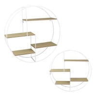 THE HOME DECO FACTORY Etagere ronde filaire M4 - Blanc