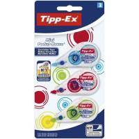 Tipp-Ex Mini Pocket Mouse Rubans Correcteurs 6 m x 5 m - Couleurs Fantaisie Assorties, Blister de 3
