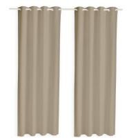 TODAY Paire de rideaux isolants thermiques - 140 x 240 cm - Mastic