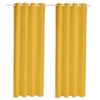 TODAY Paire de rideaux isolants thermiques - 140 x 240 cm - Safran