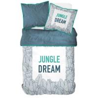TODAY TROPIK SUMMER Parure de lit Jungle Dream 100% coton - 1 Housse de couette 240 x 260 cm et 2 taies d'oreiller 63 x 63 cm -