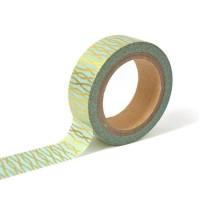 TOGA Masking tape - bleu fils entrelaces or - 10m