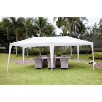 Tonnelle de jardin Adda - En acier toile polyester - 3 x 6 m - Blanc