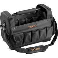 TOOD Sac porte outils cm. 40 avec fond rigid, poignée métal et compartiments