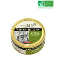 Tranche entiere de thon blanc Germon a l'huile d'Olive BIO JG - 160 G
