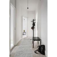 TRENDY Tapis de couloir Shaggy en polypropylene - 80 x 300 cm - Gris