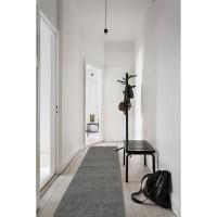 TRENDY Tapis de couloir Shaggy en polypropylene - 80 x 300 cm - Gris anthracite
