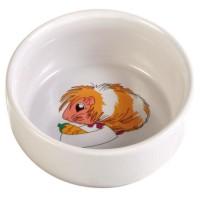 TRIXIE Ecuelle céramique avec motif cochon d'Inde 250 ml/ø 11 cm pour rongeurs