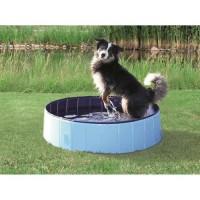 TRIXIE Piscine - Ø 80 × 20 cm - Bleu clair et bleu - Pour chien